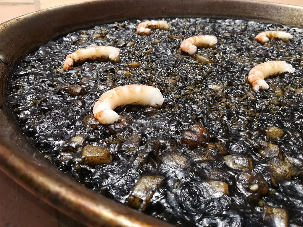 Black rice to take away in Dénia - Gastropaella