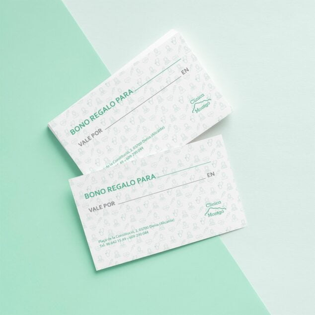 Image: Gift vouchers from Montgó Medical Clinic