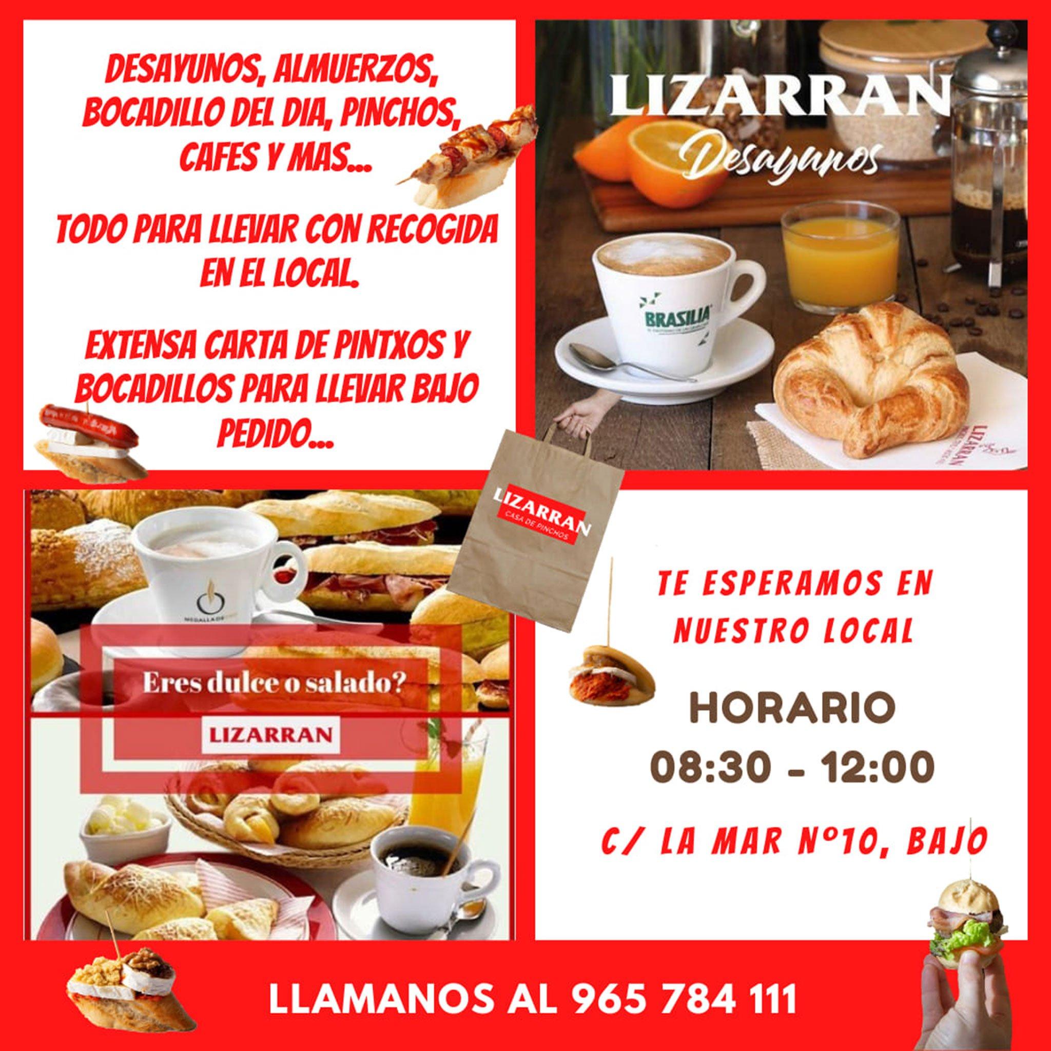 Take away food in Dénia - Lizarrán