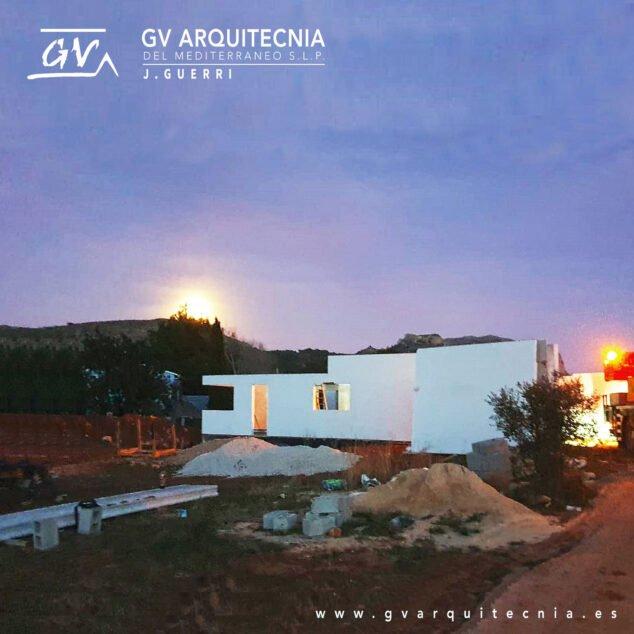 Imagen: Construcción de una vivienda prefabricada en Pedreguer - GV Arquitecnia
