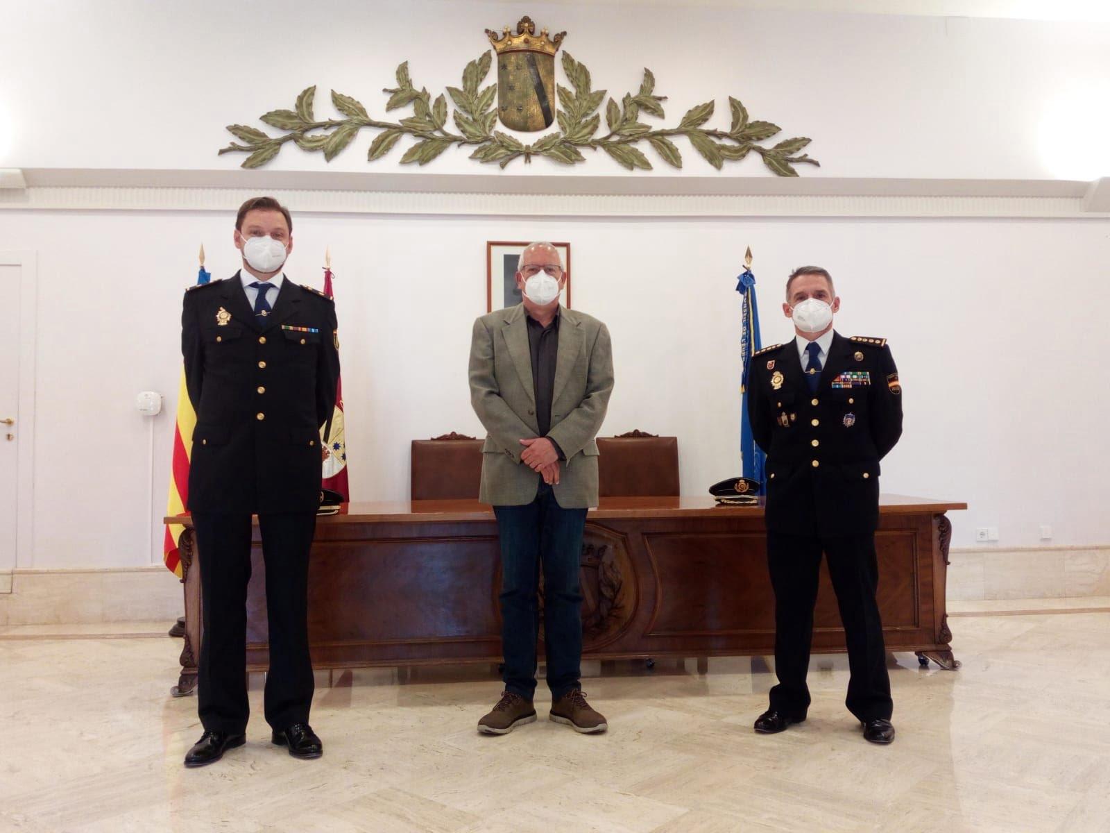Meeting between Grimalt and the new chief inspector, Carlos Nieto