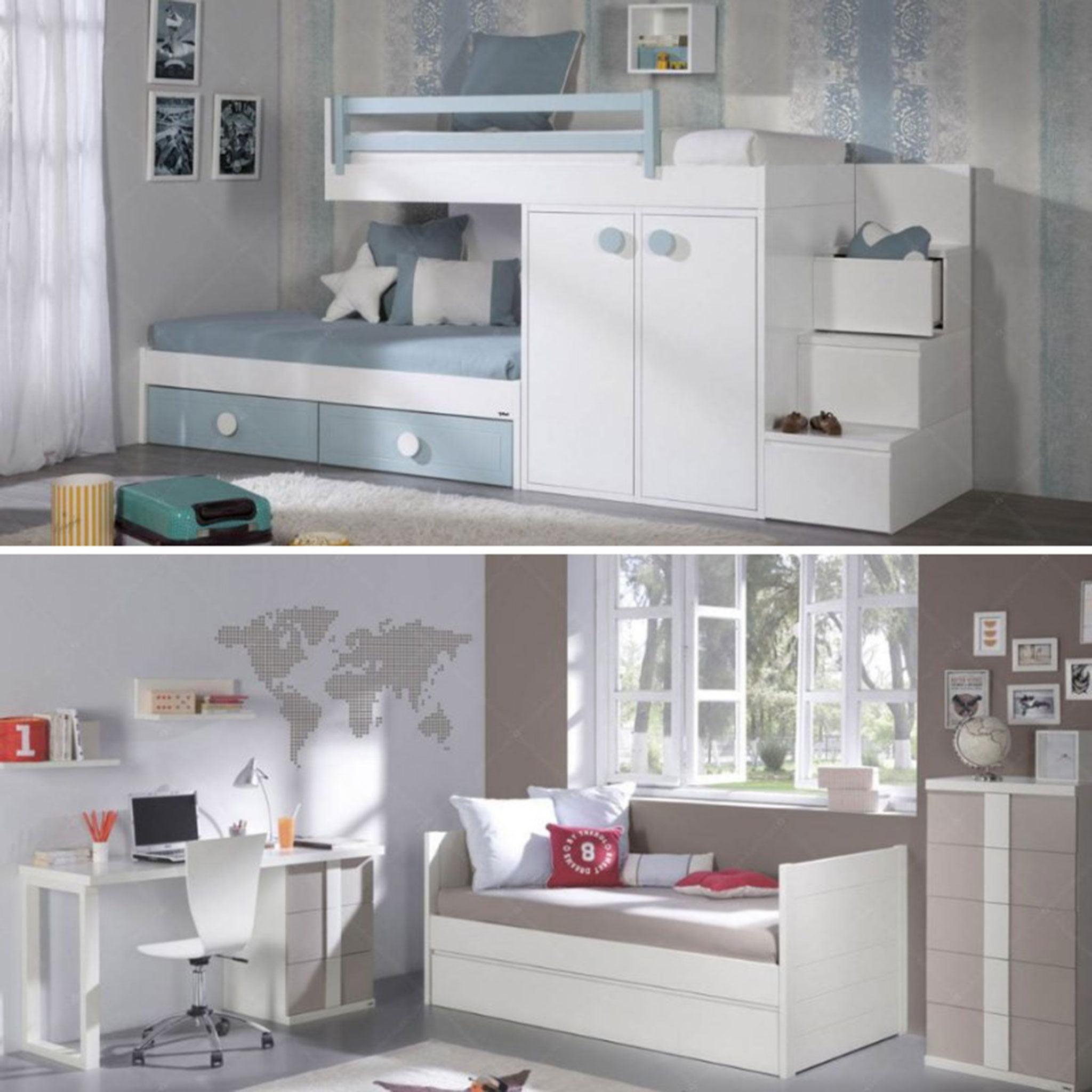 Transformation d'une chambre d'enfants en chambre de jeunes - Muebles Martínez