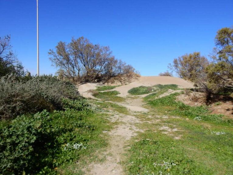 Imagen de las dunas antes de los trabajos