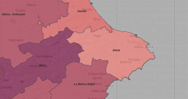 Image: Incidence du coronavirus par département dans la mise à jour du 2 février