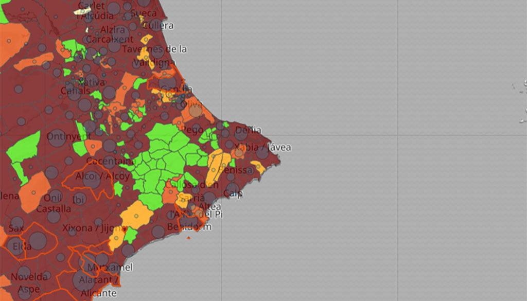 Incidence du coronavirus par les municipalités au cours de la troisième semaine de février