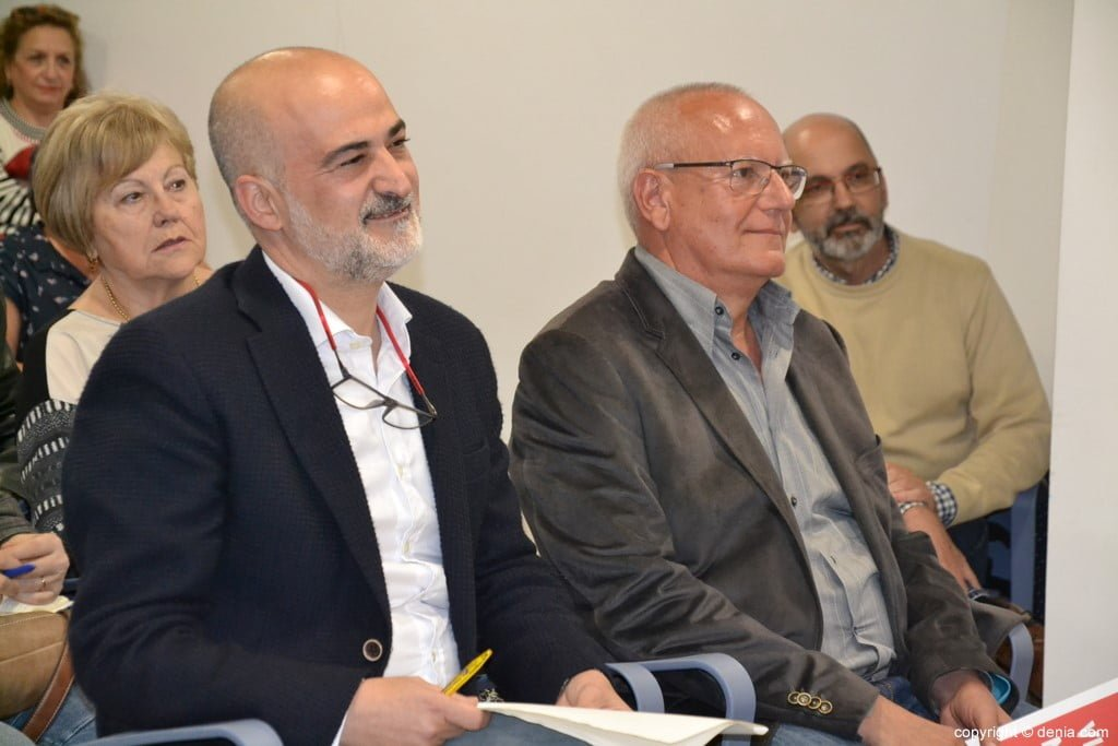 Javier Scotto and Vicent Grimal during an event in 2019