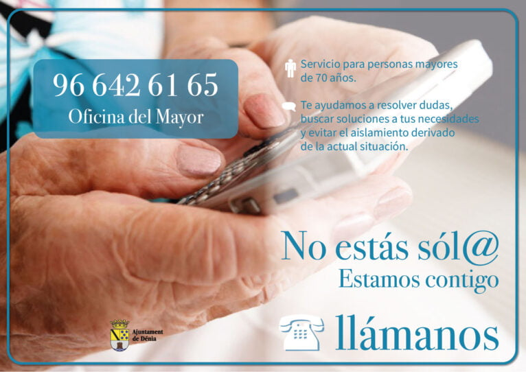 The Councilor for the Elderly launches a telephone consultation and support service for the elderly