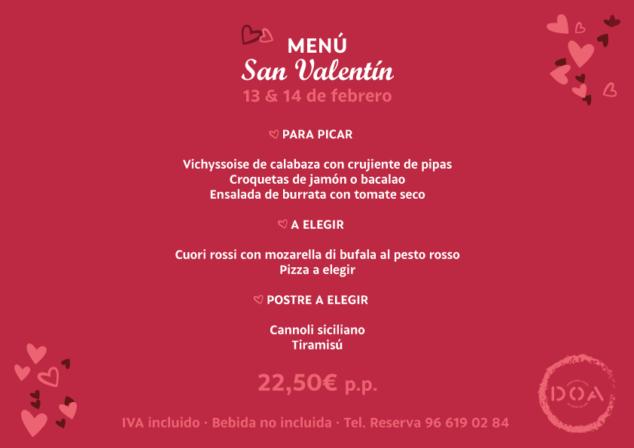 Image: Valentine's Menu in Déna - DOA