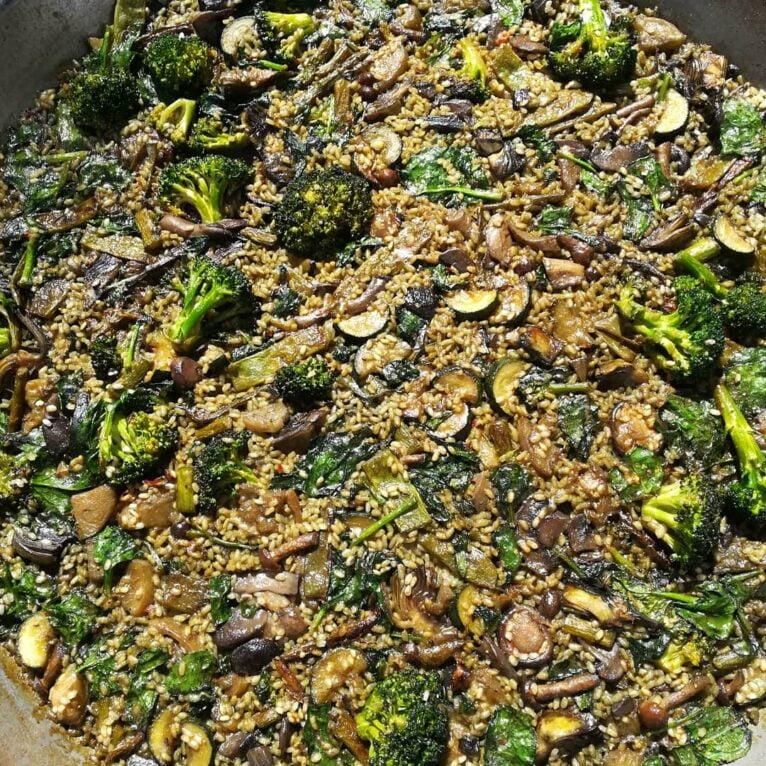 Vegetable paella in Dénia - Gastropaella