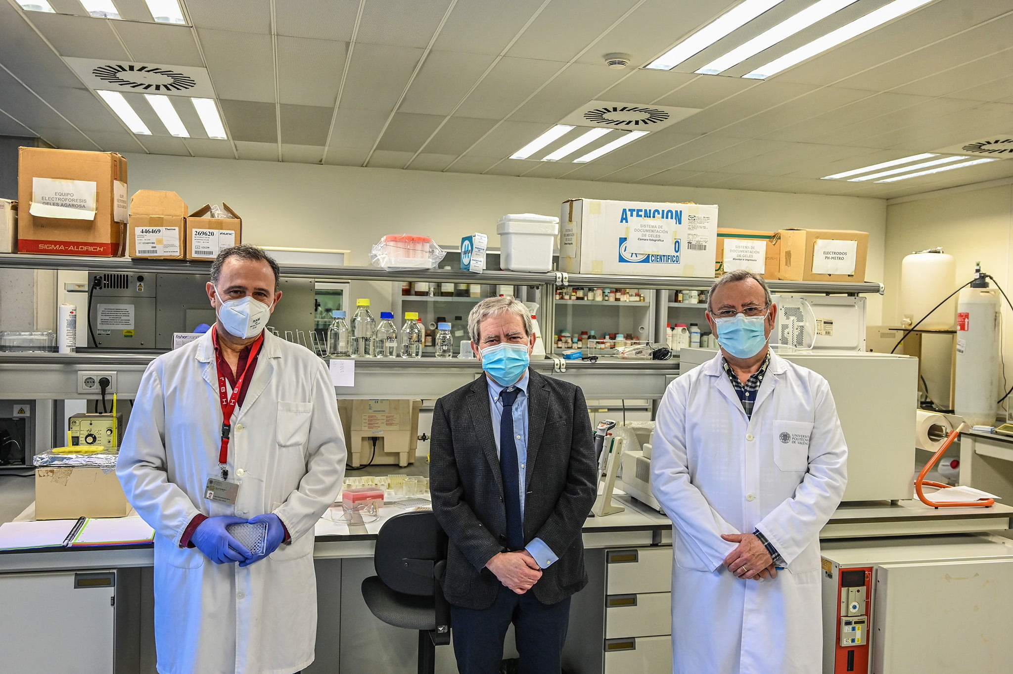 Research staff of the new COVID test