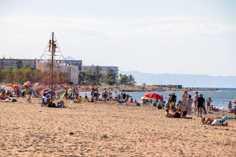 Punta del Raset beach during the summer of 2020