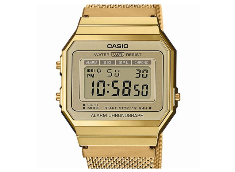 Golden Casio watch for women - Bonilla Jewelry