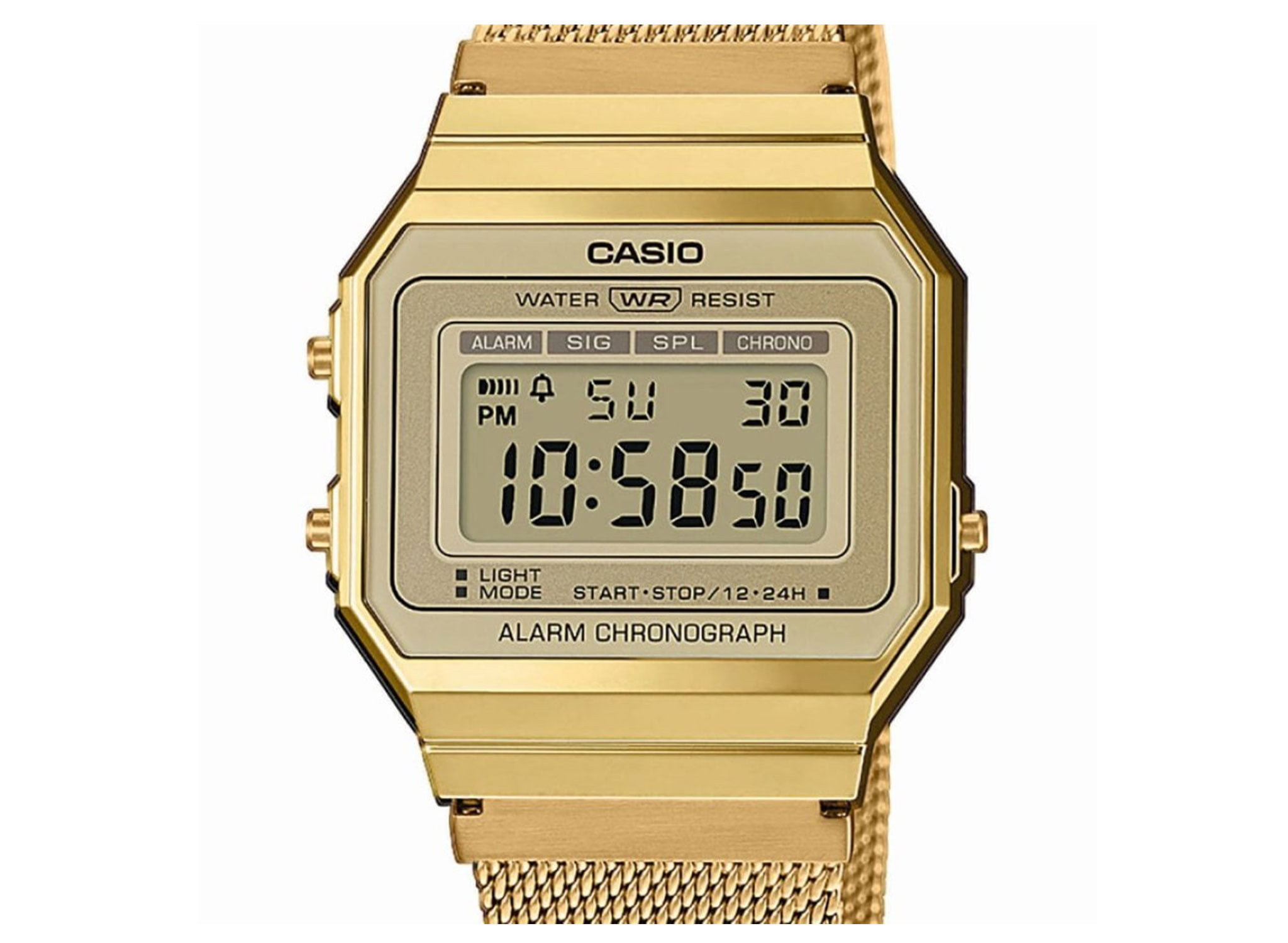 Golden Casio watch for women - Bonilla Jewelry