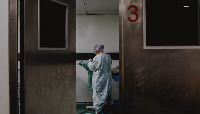 Health worker in a hospital facility
