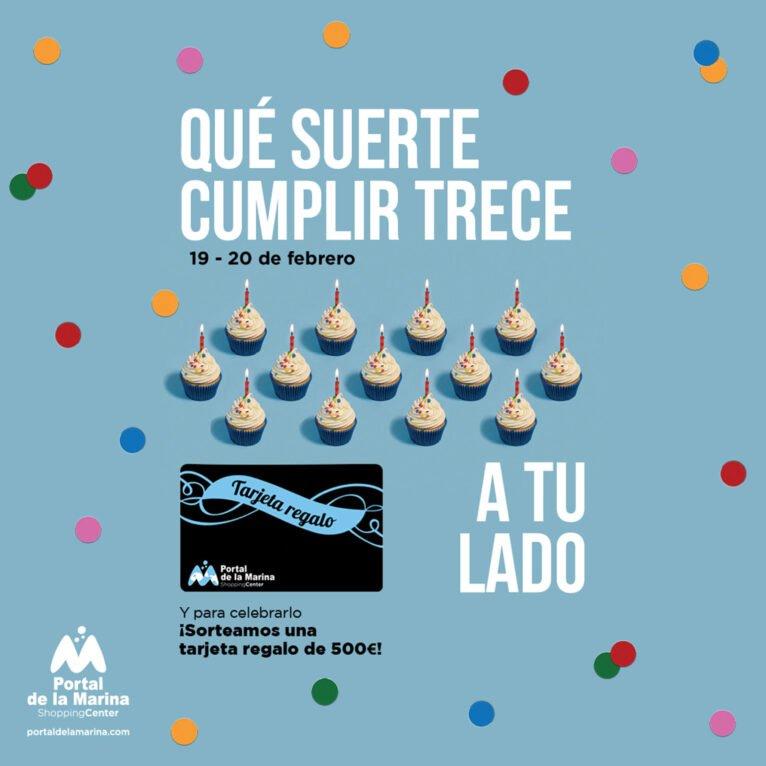 Thirteenth anniversary of Portal de la Marina