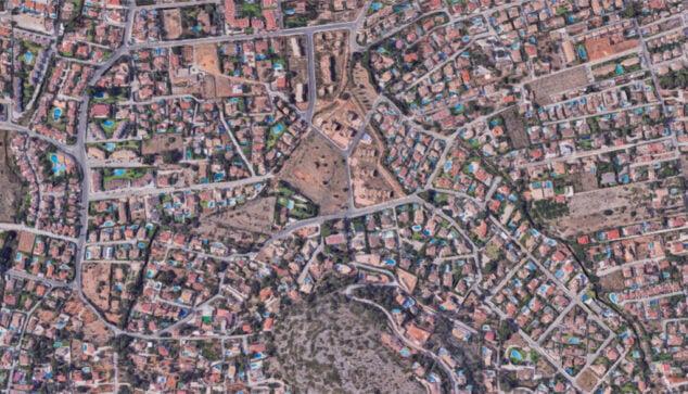 Image: Vue aérienne de la rue Montgó