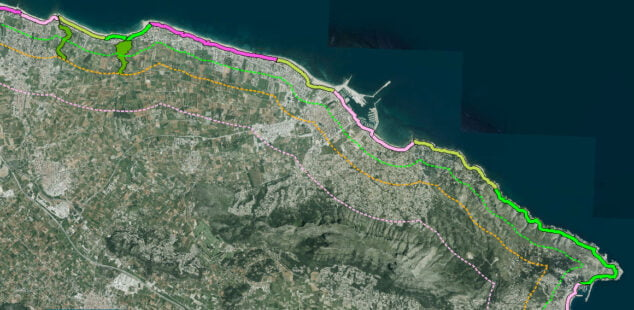 Image: Protected areas of the Dianense coast with the PATIVEL plan