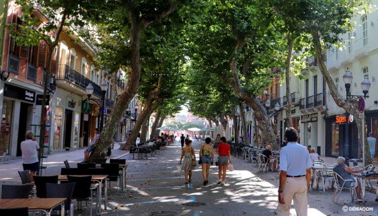 Calle Marqués de Campo durante el verano de 2020