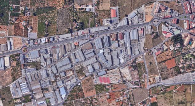 Imagen: Vista aérea del polígono industrial