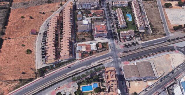 Imagen: Zona cerrada temporalmente por las obras de la vía del tren