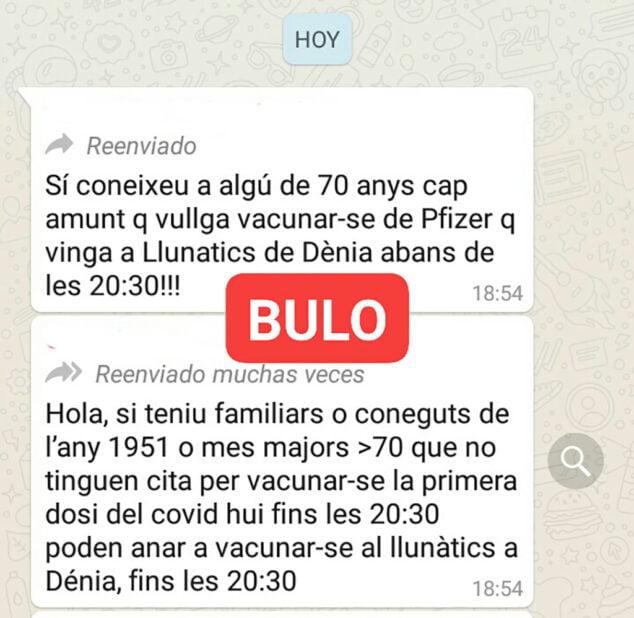 Imagen: Bulo que circula por whatsapp