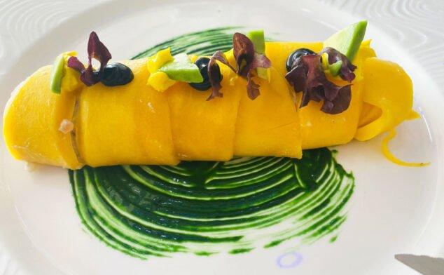 Imagen: Canelón de mango relleno de marisco - Restaurante Balandros