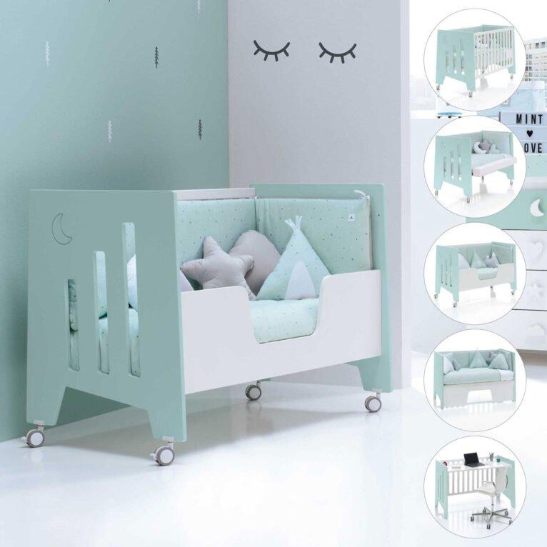 Cunas con ruedas para habitaciones de bebé  - Alondra