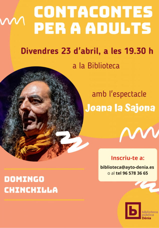 Imagen: Dénia celebra el Día del libro con el cuenta cuentos para adultos con Domingo Chinchilla