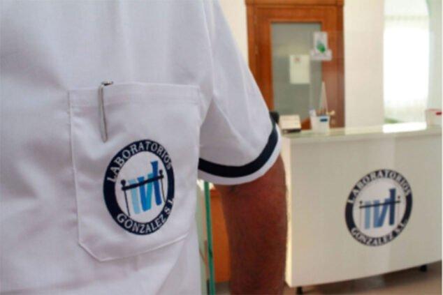 Imagen: Detalle del logotipo de Laboratorios González