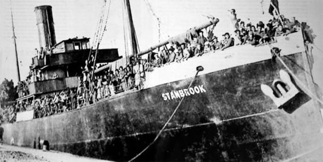 Image: Stanbrook freighter helping Republicans flee from the coup camp in March 1939