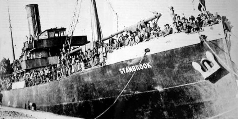El carguero Stanbrook ayudando a los republicanos a huir del bando golpista en marzo de 1939