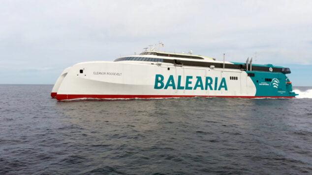Imagen: El 'Eleanor Roosevelt', el primer 'fast ferry' del mundo con motores a gas natural, cubrirá la ruta Dénia-Ibiza-Palma