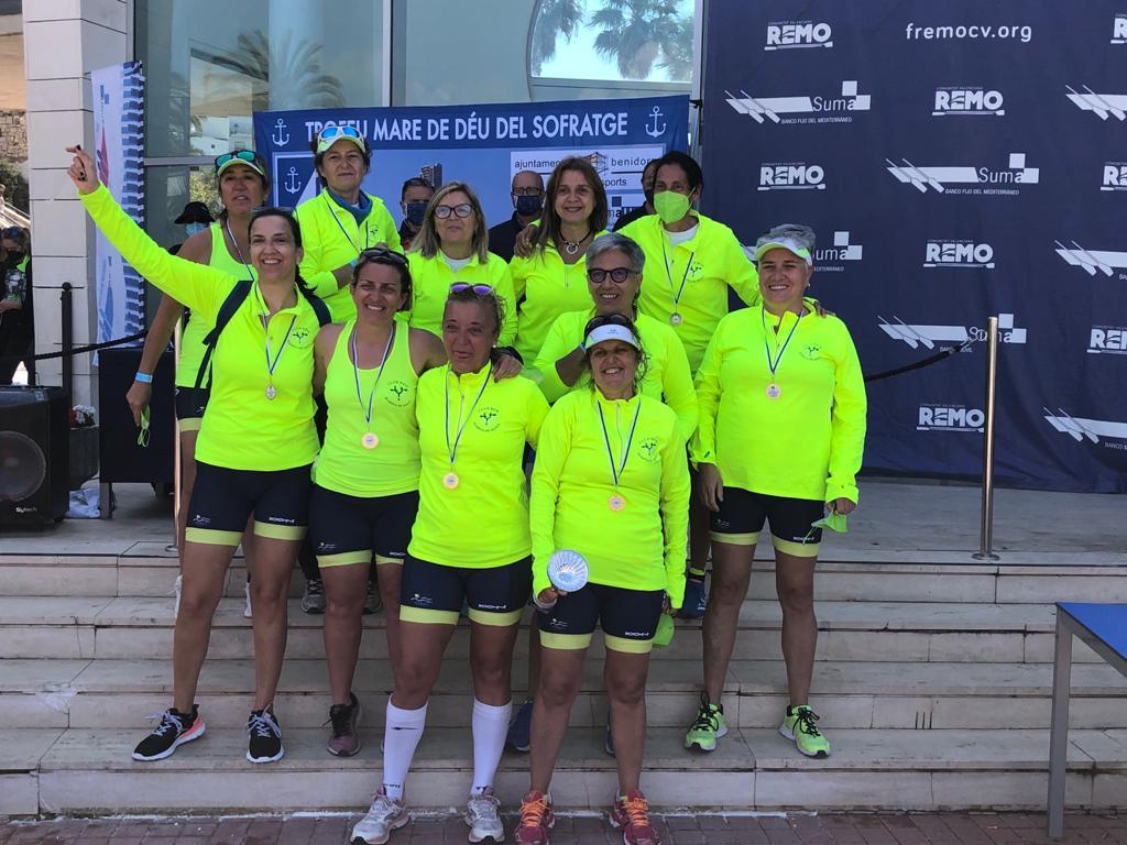 Equipo femenino del Club de Rem de Dénia