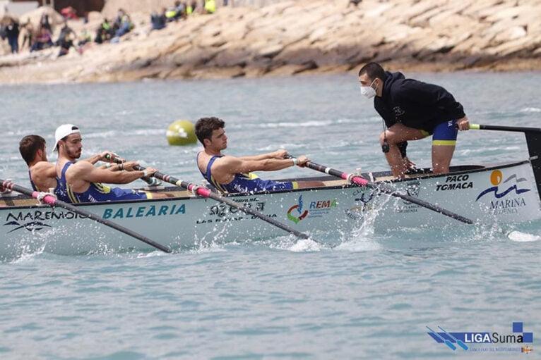 Equipo masculino durante la competición