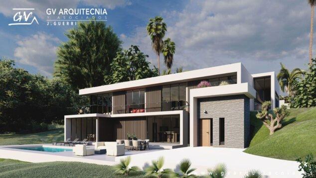 Imagen: Imagen del proyecto de una vivienda unifamiliar en Altea - GV Arquitecnia