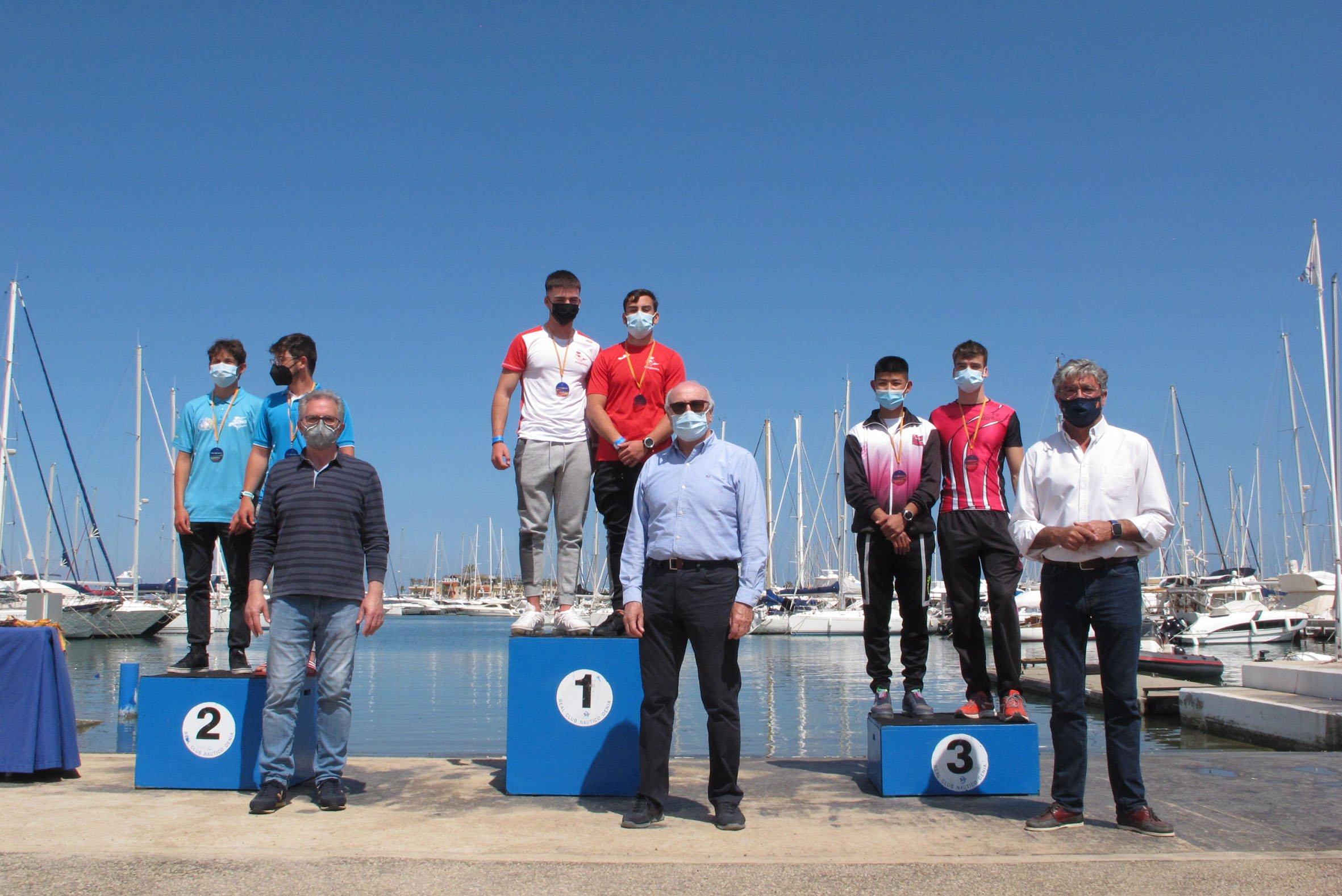 Podio del Copa de España de Kayak de Mar en Dénia