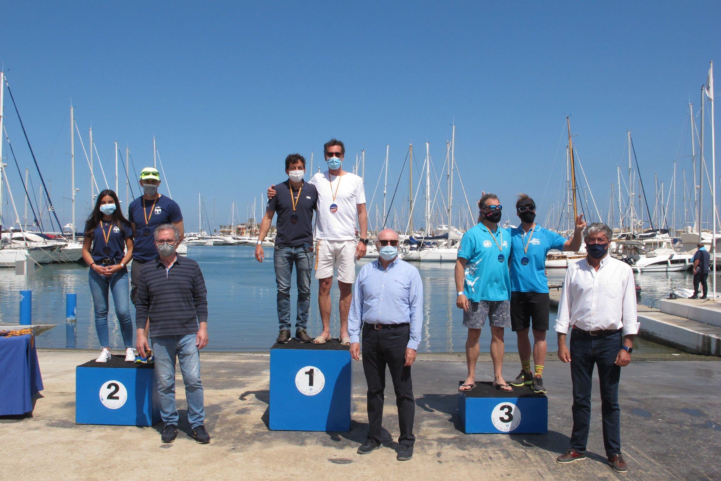 Podio del Copa de España de Kayak de Mar en Dénia+