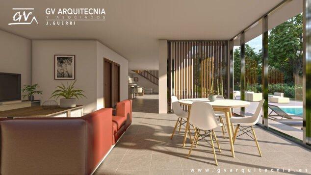 Imagen: Interior de una vivienda unifamiliar en Altea - GV Arquitecnia