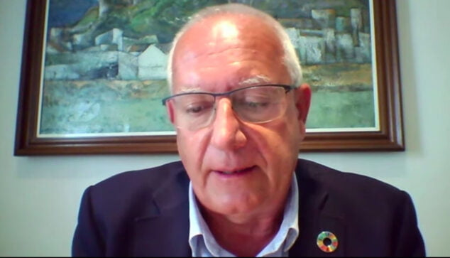 Imagen: Intervención de Vicent Grimalt durante la presentación