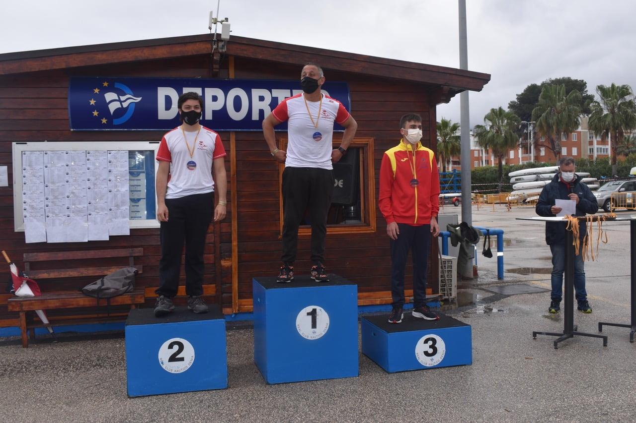 Podio de la Copa de España de Kayak de Mar