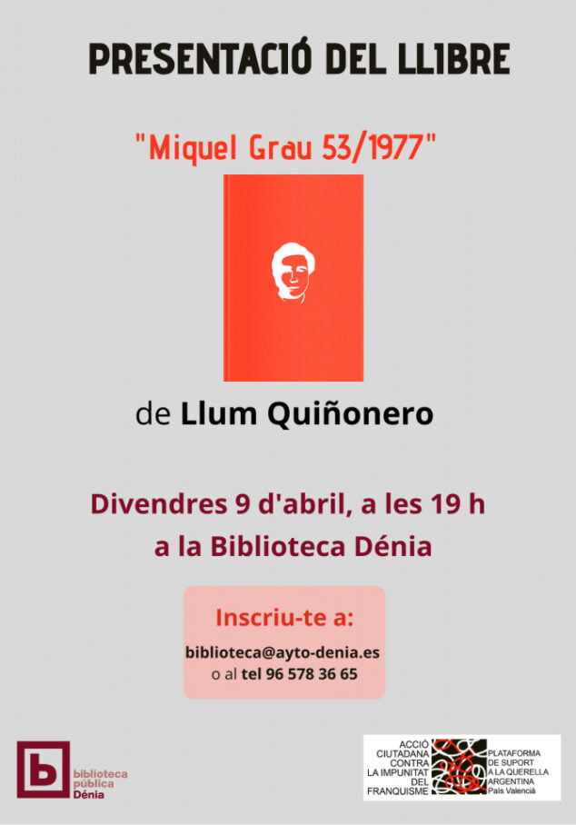 Imagen: Presentación Miquel Grau 53 1977