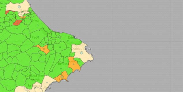 Imagen: Situación del coronavirus por municipios en el 30 de abril de 2021