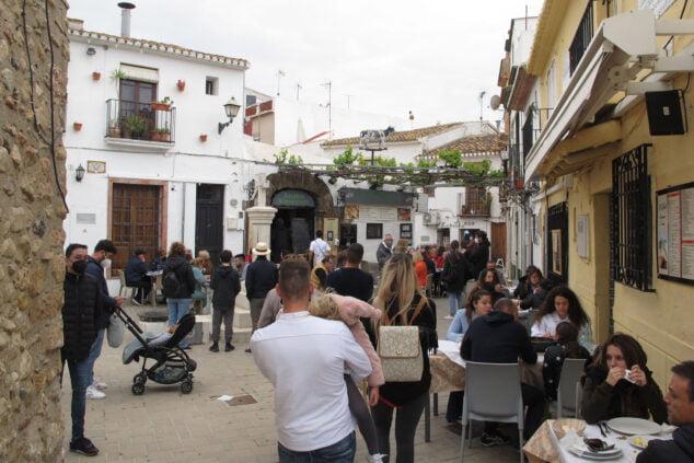 Imagen: Terrazas en el barrio Baix la mar de Dénia