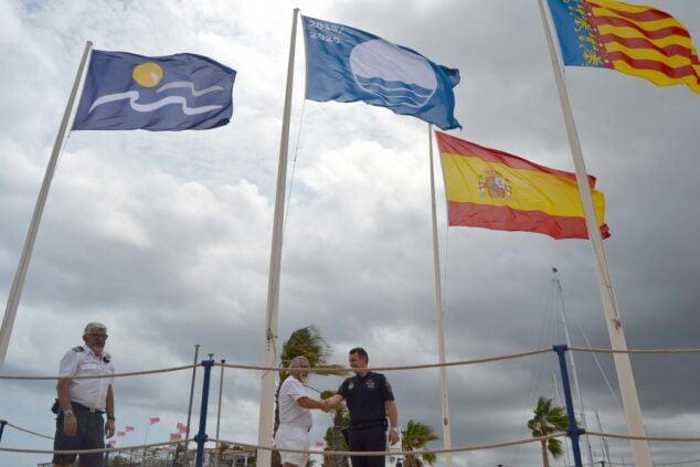 Imagen: Badera Azul otorgada en 2019 a Marina de Dénia