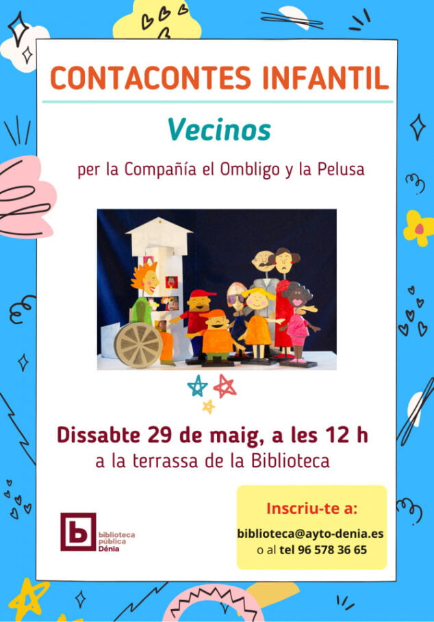 Imagen: Cartel del cuenta cuentos infantil %22Vecinos%22