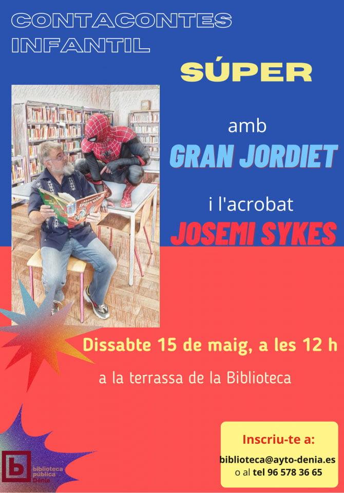 Cartel del cuenta cuentos Súper de El gran Jordiet