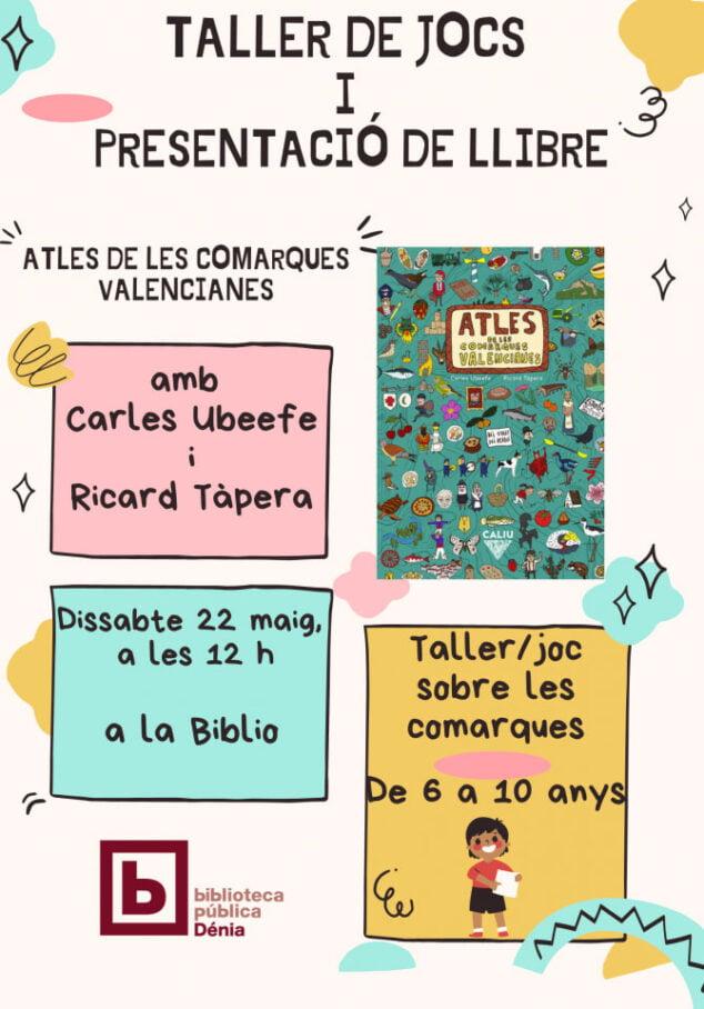 Imagen: Cartel presentación del libro Atles de les comarques valencianes