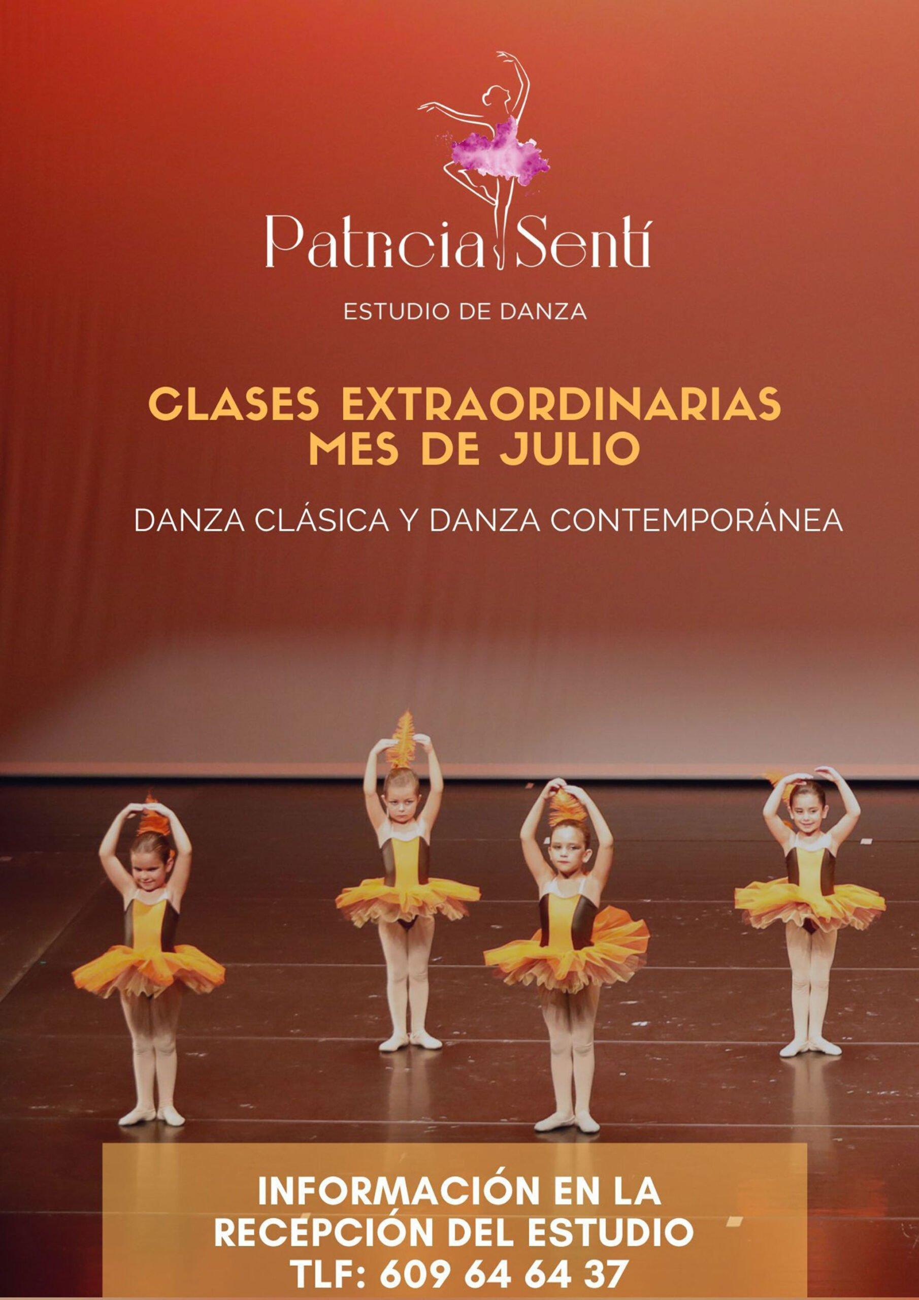 Clases extraordinarias en julio – Estudio de Danza Patricia Sentí