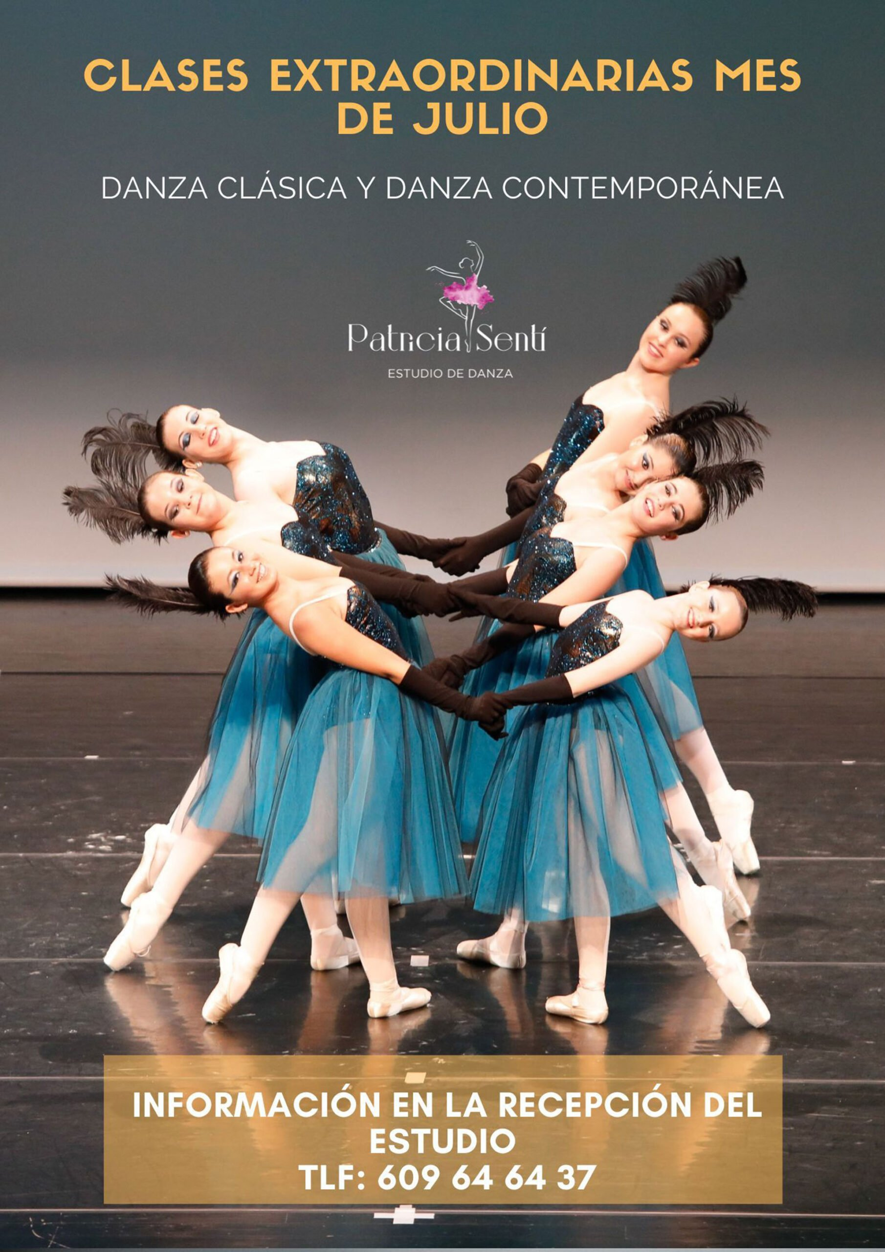 Clases extraordinarias en el mes de julio en Estudio de Danza Patricia Sentí