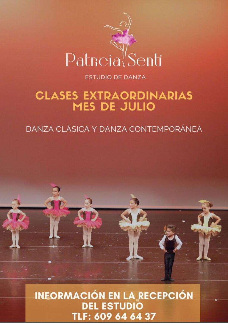 Clases en julio en Estudio de Danza Patricia Sentí